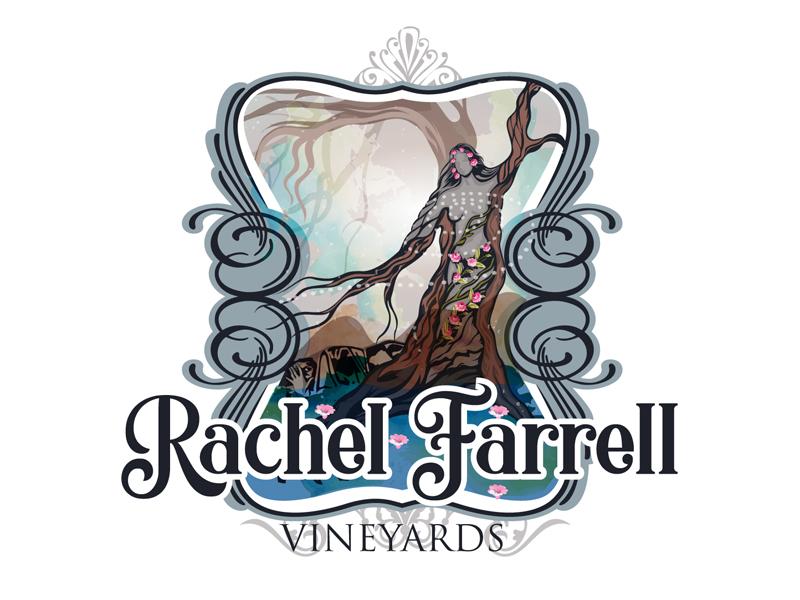 Rachel Farrell Vineyards logo design by DreamLogoDesign