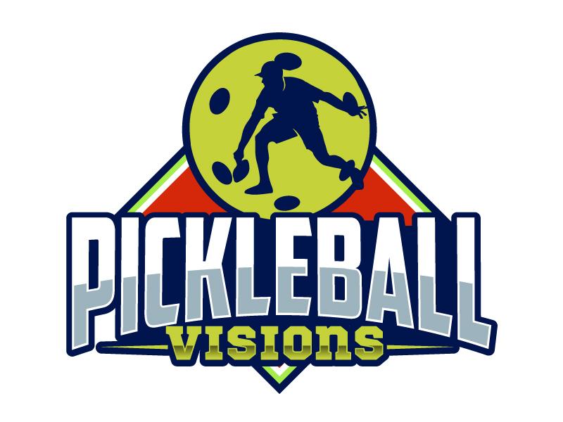 Pickleball Visions logo design by ElonStark