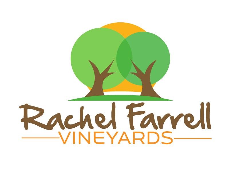 Rachel Farrell Vineyards logo design by ElonStark