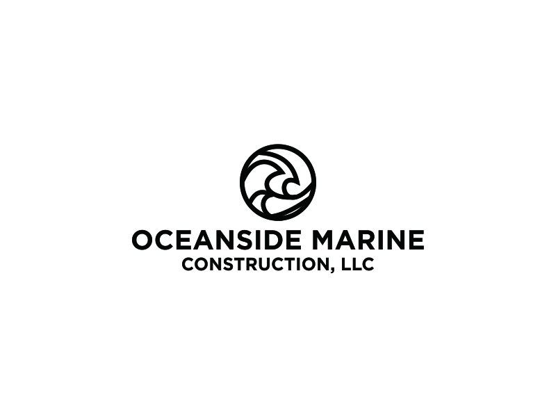 Oceanside Marine Construction, LLC logo design by Greenlight