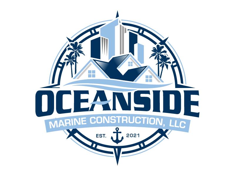 Oceanside Marine Construction, LLC logo design by jaize