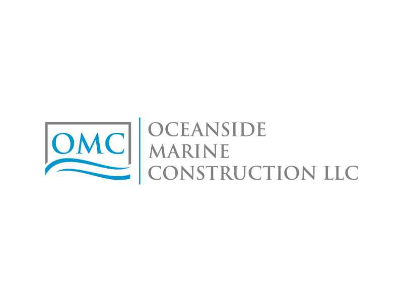 Oceanside Marine Construction, LLC logo design by hashirama
