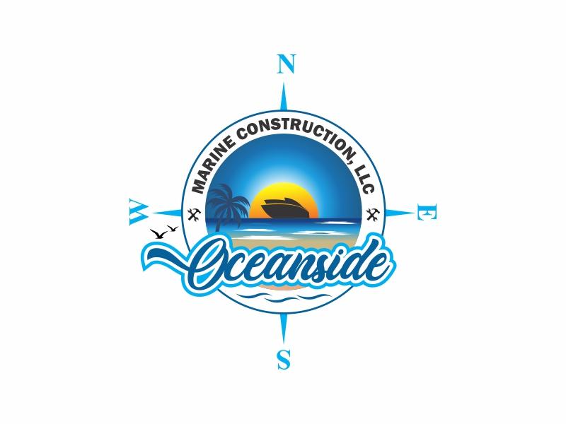 Oceanside Marine Construction, LLC logo design by Ravi Dhawan