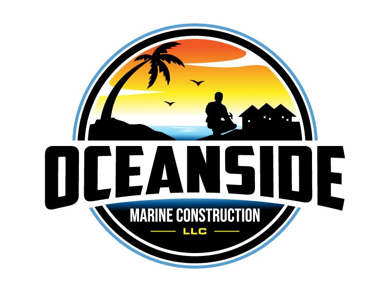 Oceanside Marine Construction, LLC logo design by MUSANG
