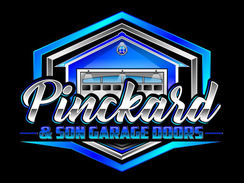 Pinckard & Son Garage Doors logo design by Suvendu