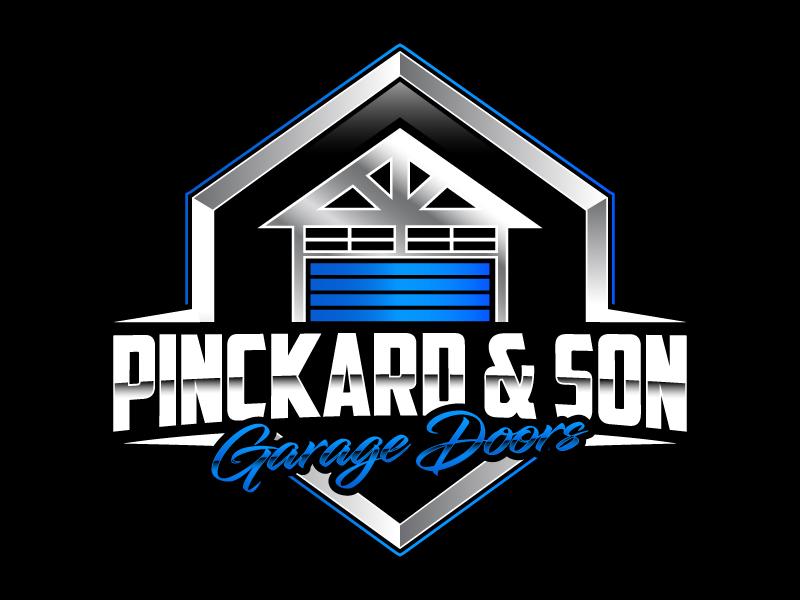 Pinckard & Son Garage Doors logo design by daywalker