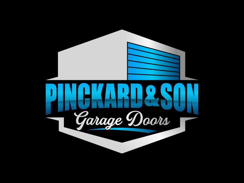 Pinckard & Son Garage Doors logo design by betapramudya