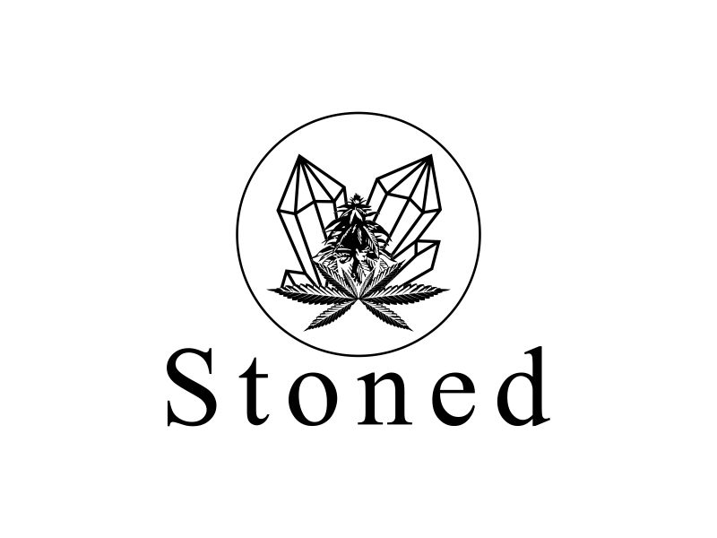 Stoned logo design by almaula