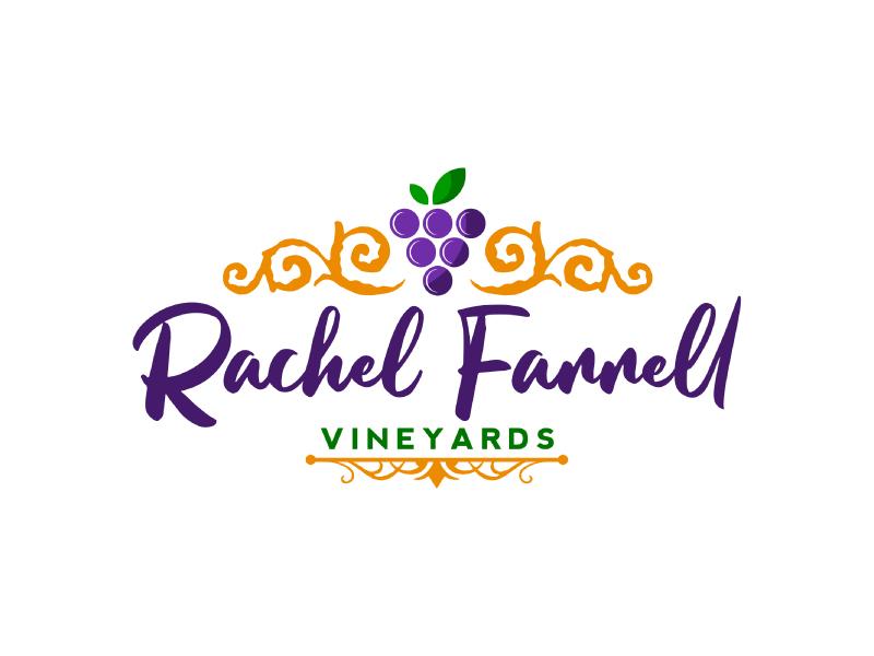 Rachel Farrell Vineyards logo design by Erasedink