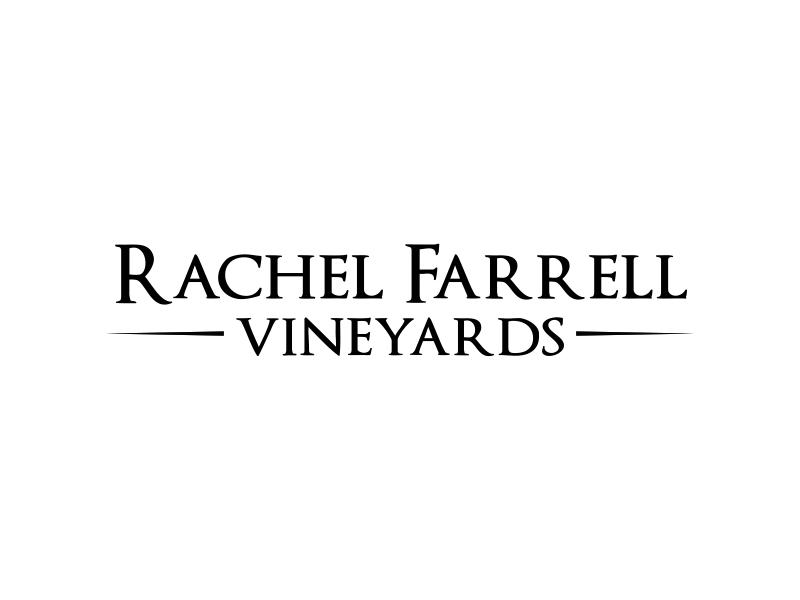 Rachel Farrell Vineyards logo design by sikas