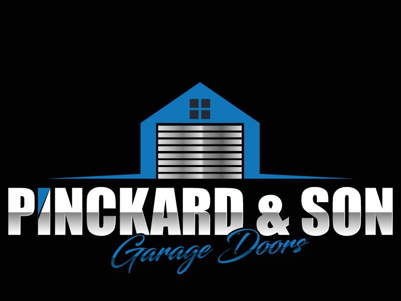 Pinckard & Son Garage Doors logo design by ElonStark