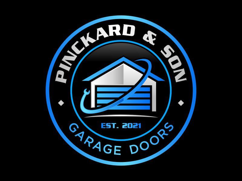 Pinckard & Son Garage Doors logo design by Gopil