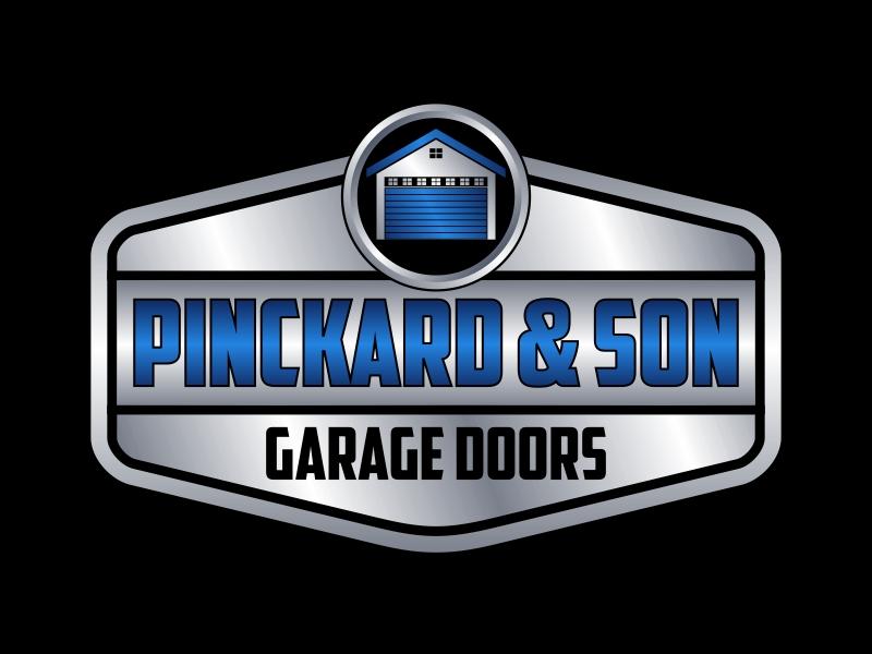 Pinckard & Son Garage Doors logo design by Kruger
