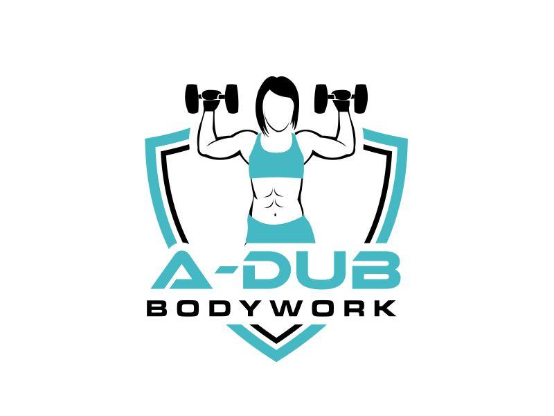 A-Dub Bodywork logo design by GassPoll