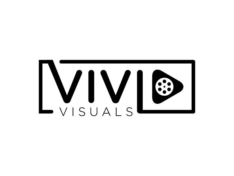 vivid visuals logo design by wongndeso
