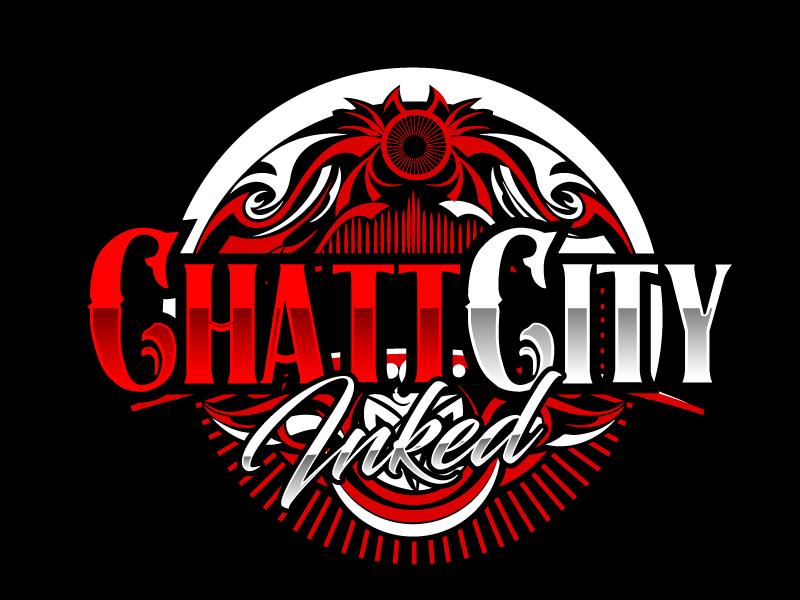 Chatt City Inked logo design by ElonStark