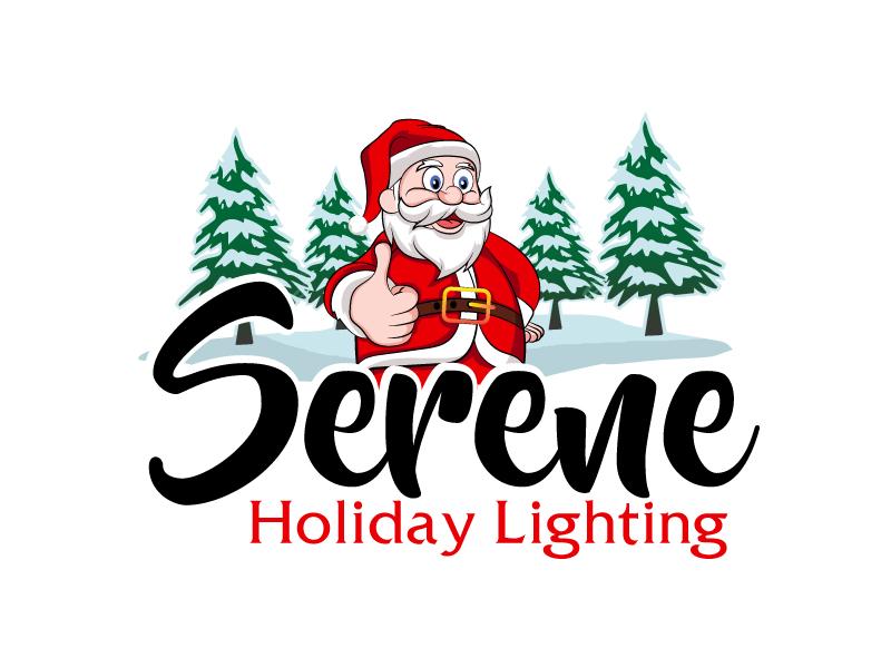Serene Holiday Lighting logo design by ElonStark