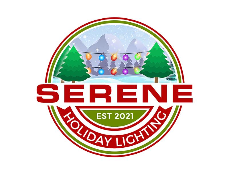 Serene Holiday Lighting logo design by PrimalGraphics
