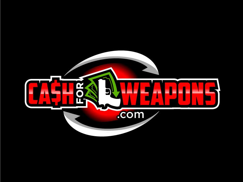 CashforWeapons.com logo design by Foxcody
