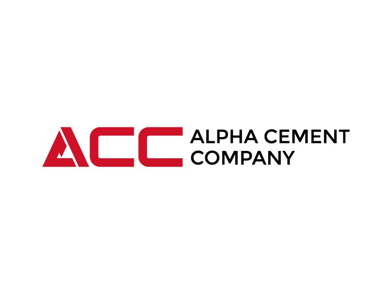 Alpha Cement Company logo design by Ahmad Subahman