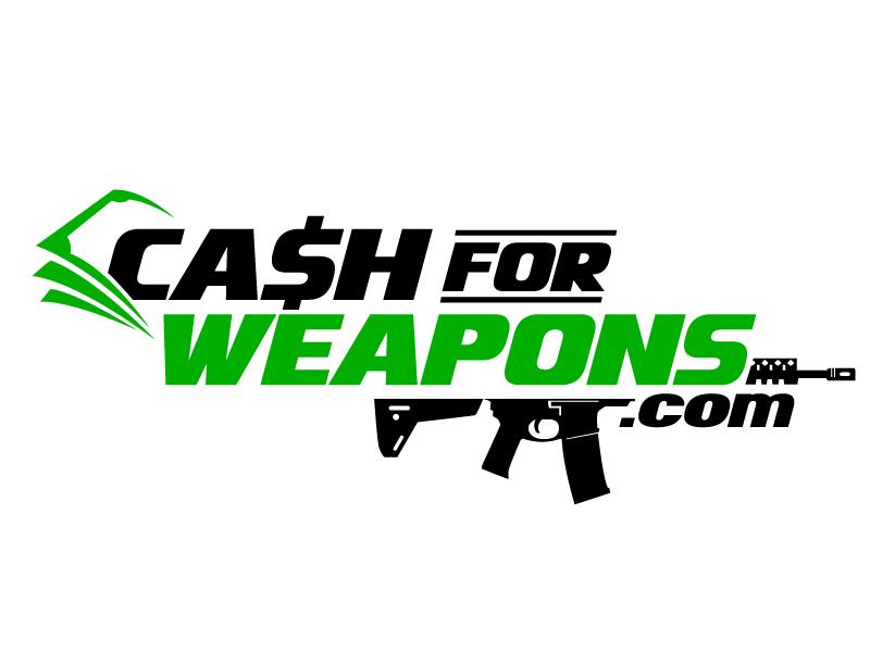 CashforWeapons.com logo design by jaize