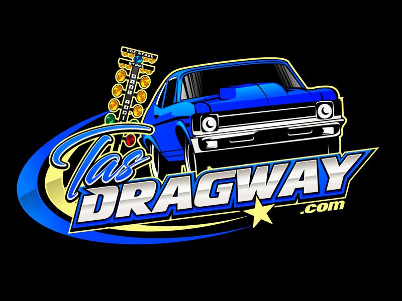 Tas dragway logo design by DreamLogoDesign
