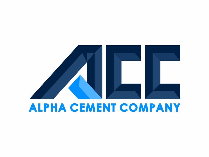 Alpha Cement Company logo design by mutafailan