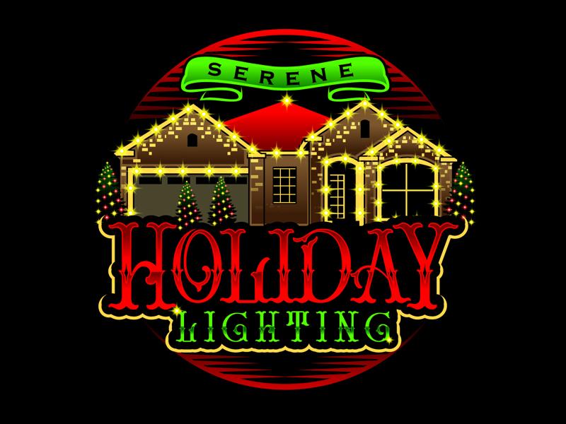 Serene Holiday Lighting logo design by DreamLogoDesign