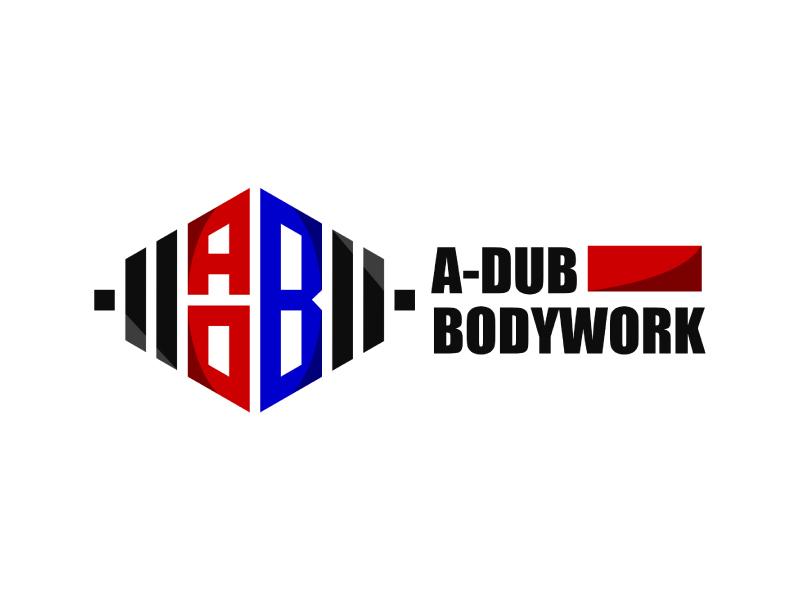 A-Dub Bodywork logo design by Erasedink
