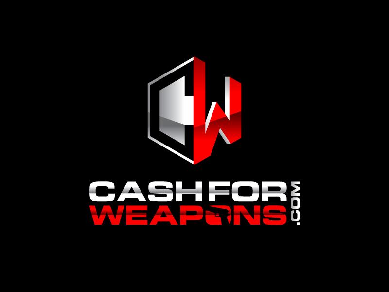 CashforWeapons.com logo design by Sandip