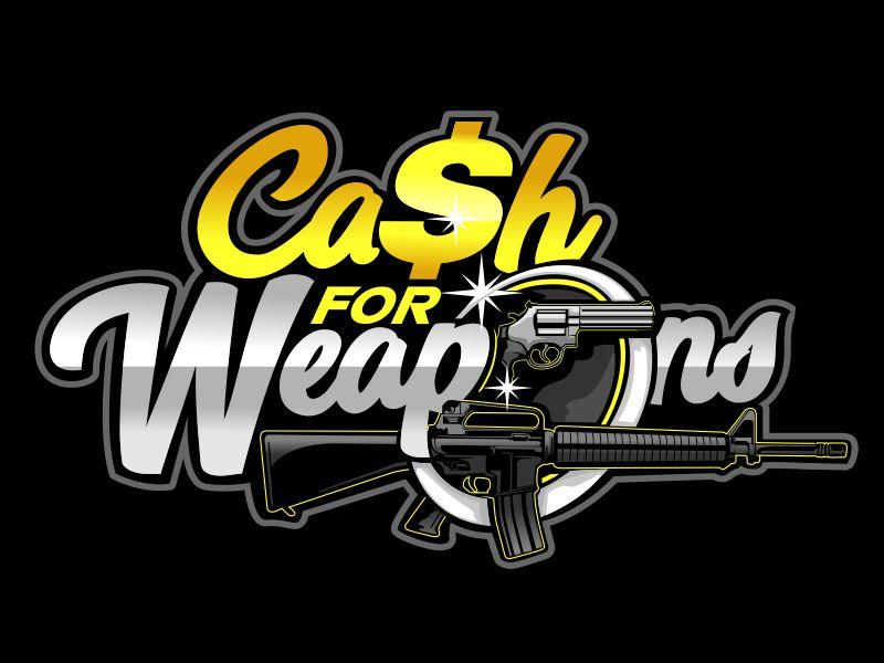 CashforWeapons.com logo design by veron