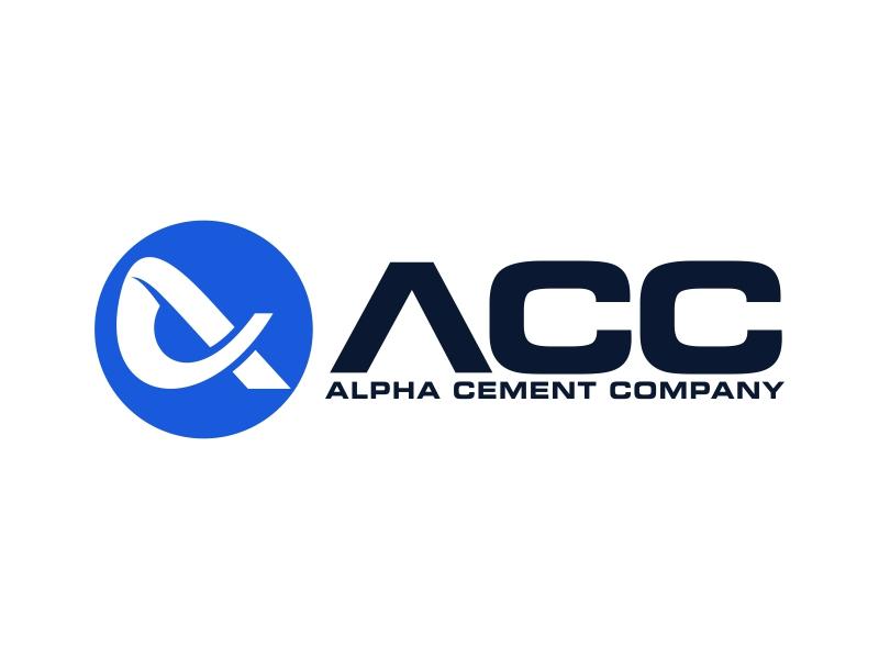 Alpha Cement Company logo design by ekitessar