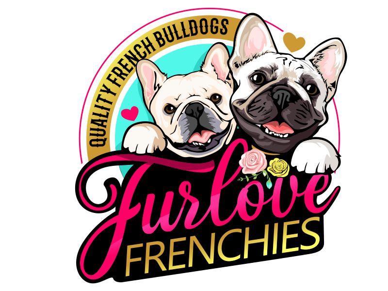 Furlove Frenchies Quality French Bulldogs Logo Design
