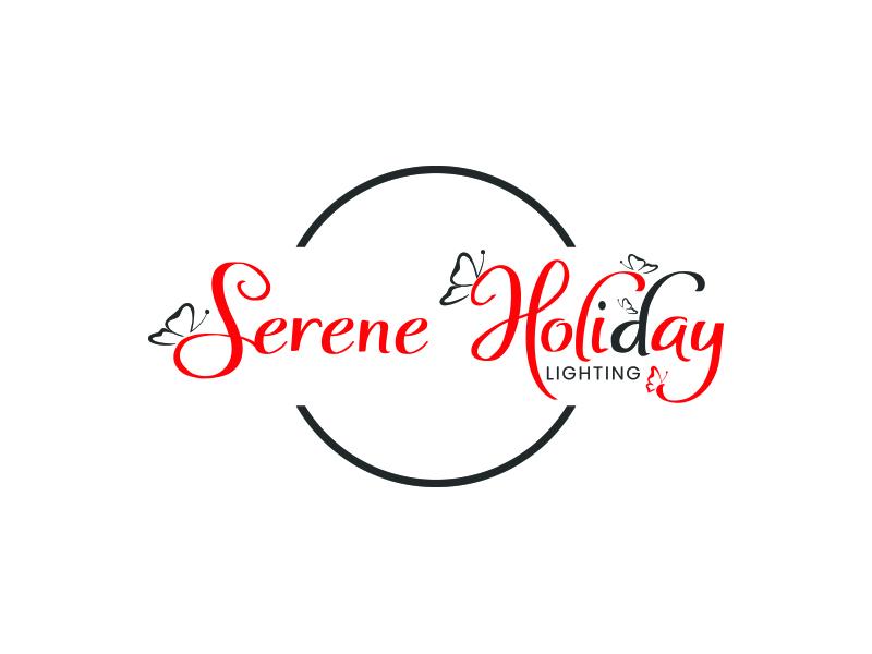 Serene Holiday Lighting logo design by zubi