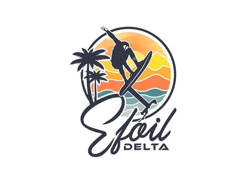 Efoil Delta logo design by Godvibes