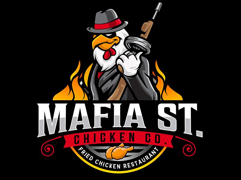 Mafia St. Chicken Co. logo design by scriotx