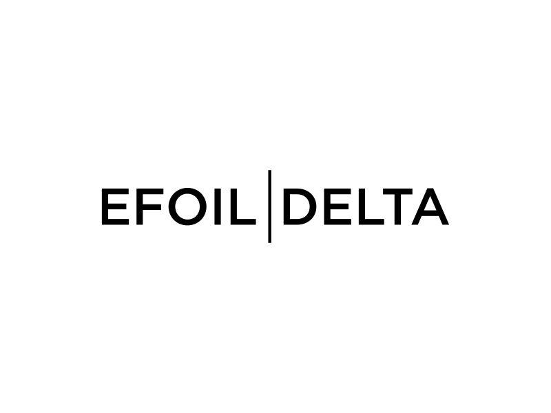 Efoil Delta logo design by dewipadi