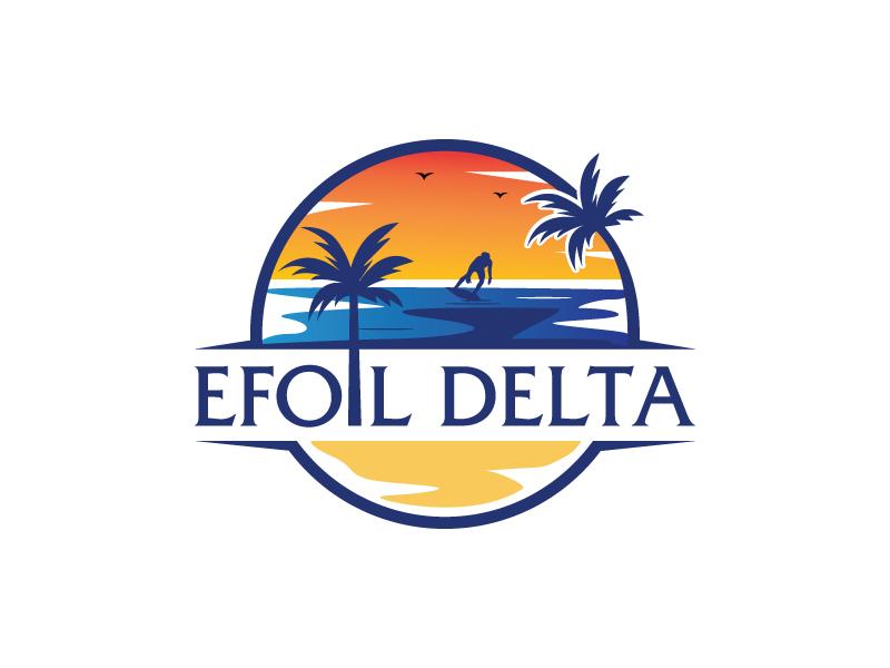 Efoil Delta logo design by MonkDesign