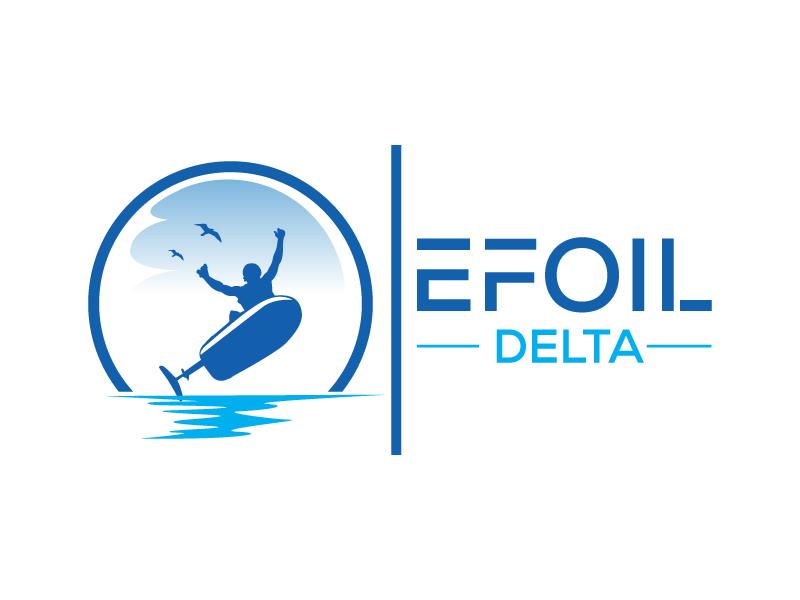 Efoil Delta logo design by Suvendu