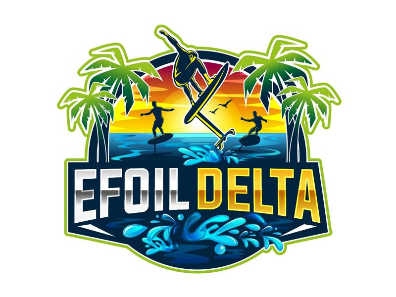 Efoil Delta logo design by DreamLogoDesign