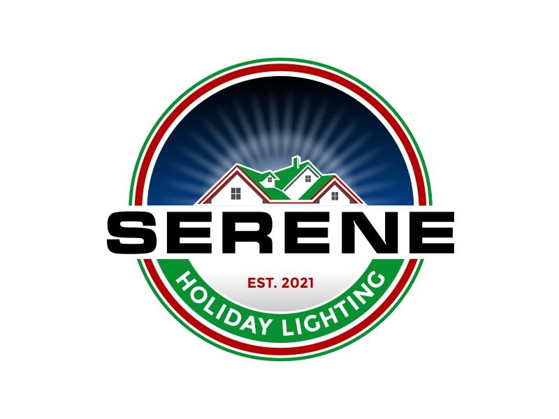 Serene Holiday Lighting logo design by rizuki