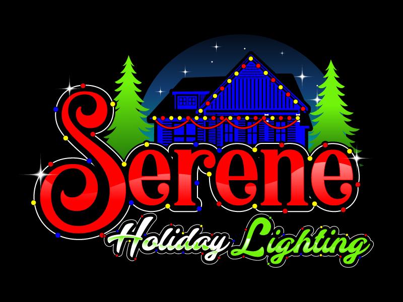 Serene Holiday Lighting logo design by LogoQueen