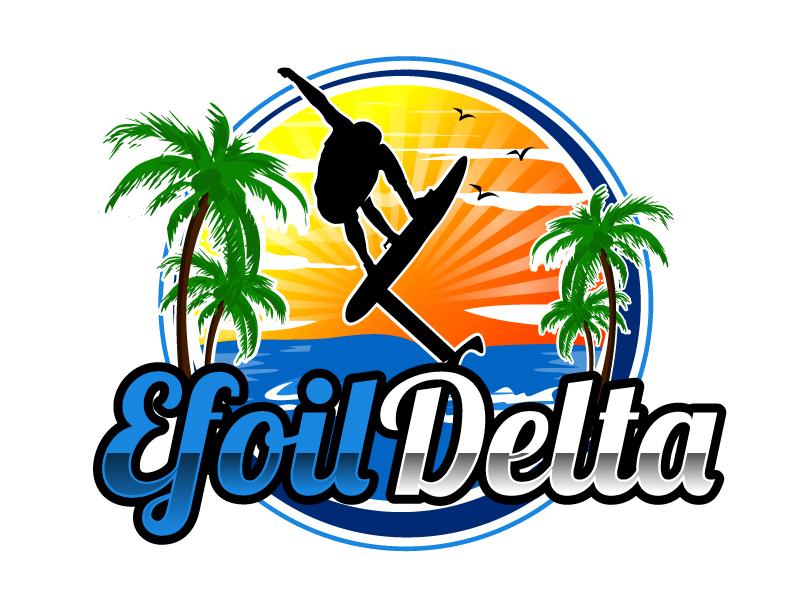 Efoil Delta logo design by ElonStark