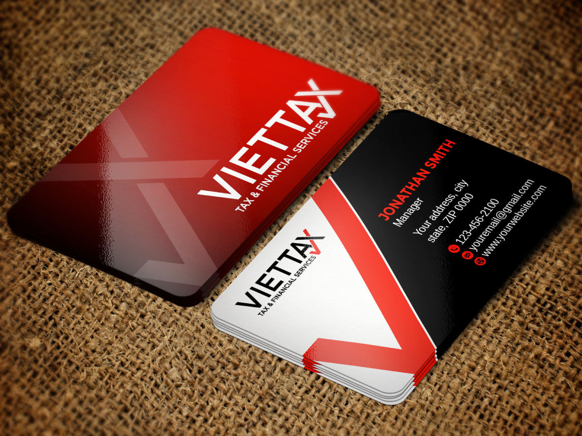 viettax New logo logo design by Boomstudioz