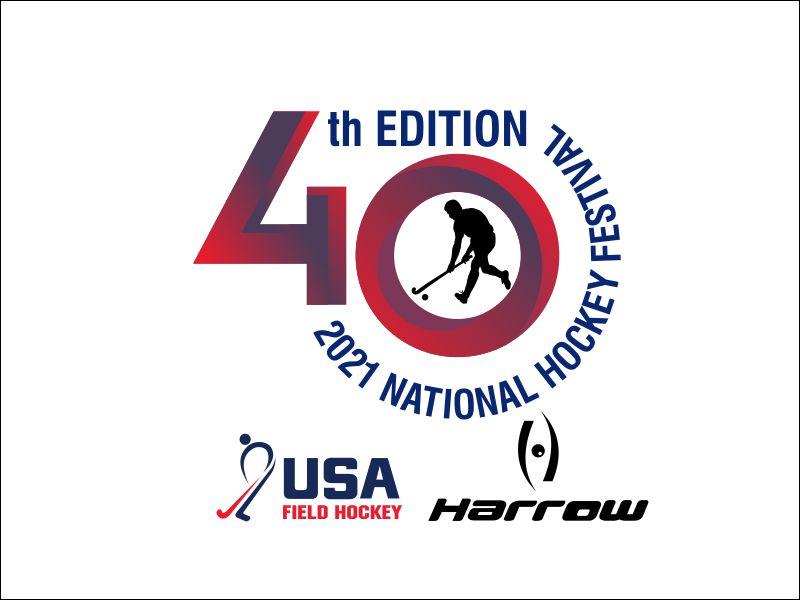 40th Edition 2021 National Hockey Festival logo design by GURUARTS