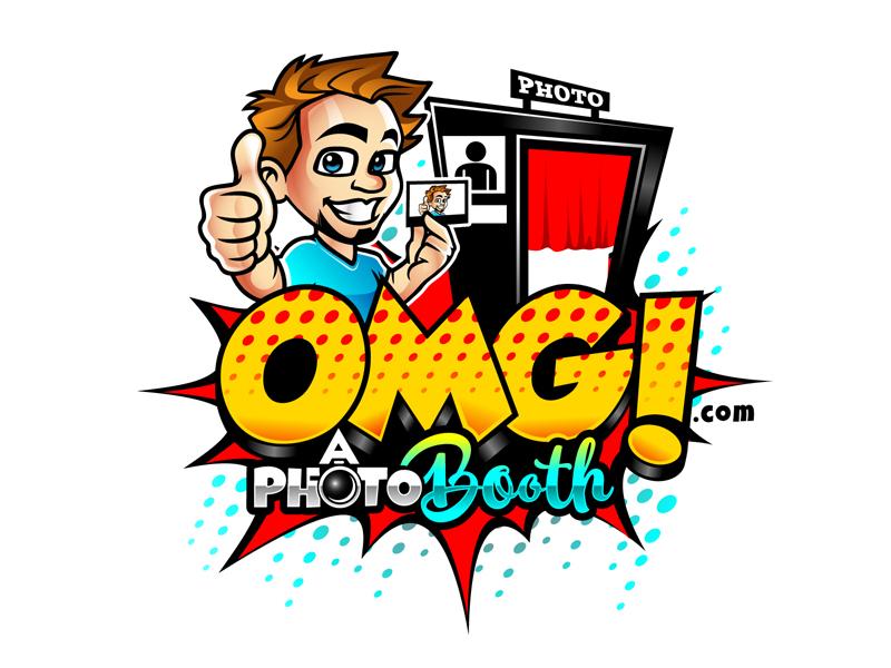 OMG! A Photobooth optional; .com logo design by DreamLogoDesign