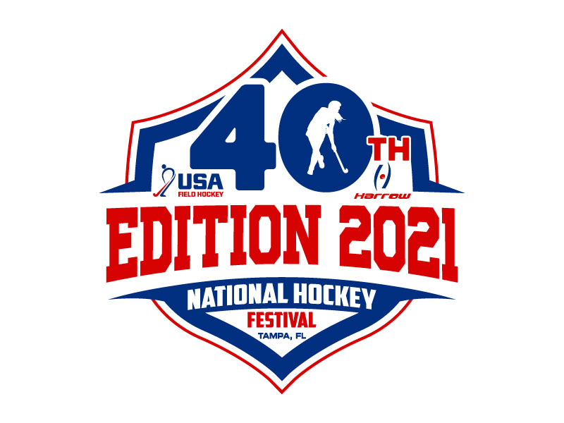 40th Edition 2021 National Hockey Festival logo design by Suvendu