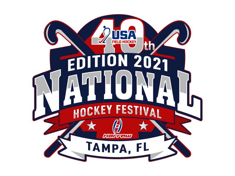 40th Edition 2021 National Hockey Festival logo design by LogoQueen
