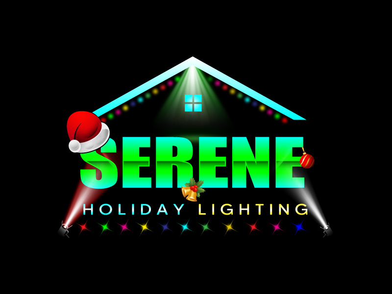 Serene Holiday Lighting logo design by Suvendu