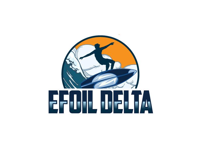 Efoil Delta logo design by Pintu Das